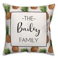 Designs Direct Navy Anchor Pattern Monogram Indoor/Outdoor Square Pillow