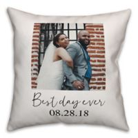 Designs Direct Best Day Ever Indoor/Outdoor Square Throw Pillow