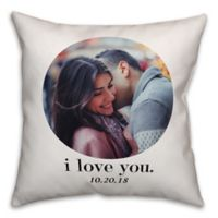Designs Direct I Love You Indoor/Outdoor Square Pillow