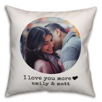 Designs Direct I Love You More Indoor/Outdoor Square Pillow