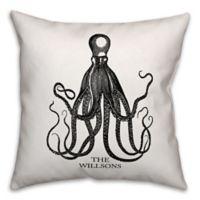 Designs Direct Black Octopus Indoor/Outdoor Square Pillow