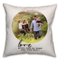 Designs Direct Love Grows Indoor/Outdoor Square Pillow