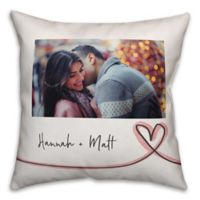 Designs Direct Whimsy Heart Indoor/Outdoor Square Pillow in Pink