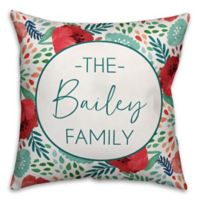 Designs Direct Multicolor Florals Indoor/Outdoor Square Pillow