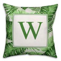 Designs Direct Palms Monogram Indoor/Outdoor Square Pillow