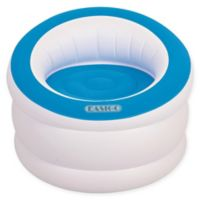 Pool Central Inflatable Lounge Chair in White/Blue Cyan