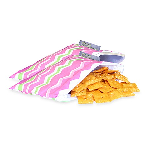 Itzy Ritzy™ Snack Happened Mini Mini Reusable & Washable Snack Bags in Little Miss Zig Zag