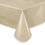 Monterey 60-Inch x 102-Inch Vinyl Tablecloth in Natural