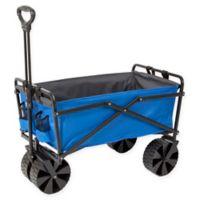 Seina Folding Beach Wagon in Blue/Grey