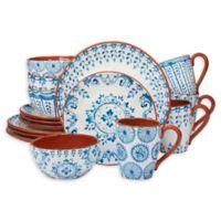 Certified International Porto® by Tre Sorelle Studios 16-Piece Dinnerware Set in Blue