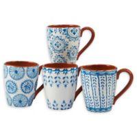 Certified International Porto® by Tre Sorelle Studios Mugs in Blue (Set of 4)