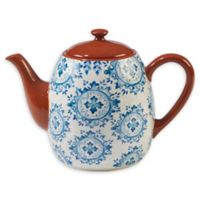 Certified International Porto® by Tre Sorelle Studios Teapot in Blue