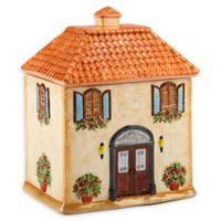 Certified International Piazzette Villa House Cookie Jar
