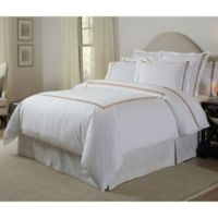 Pointehaven 300-Thread-Count Embroidered King/California King Duvet Cover Set in Champagne