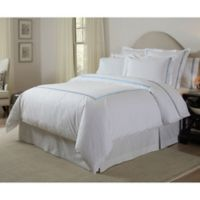 Pointehaven 300-Thread-Count Embroidered King/California King Duvet Cover Set in Blue