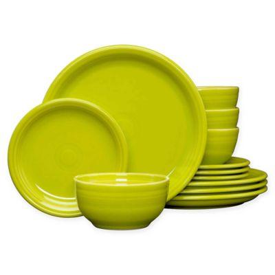 Fiesta® 12-Piece Bistro Dinnerware Set in Lemongrass  sc 1 st  Bed Bath u0026 Beyond & Buy Lemon Dinnerware from Bed Bath u0026 Beyond