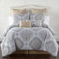Levtex Home Miren Reversible Full/Queen Duvet Cover Set in Grey/Tan