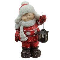 Northlight® 16.5-Inch Christmas Morning Boy Holding Tealight Lantern