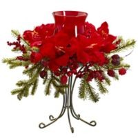 Nearly Natural 15.5-Inch Amaryllis Candelabrum