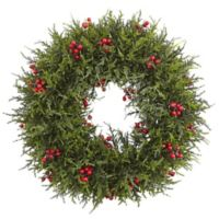 Nearly Natural 20-Inch Cedar Berry Artificial Christmas Wreath