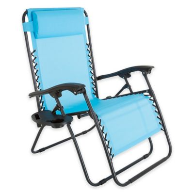 Pure Garden Oversized Zero Gravity Chair In Blue
