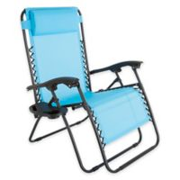 Pure Garden Zero Gravity Reclining Lounge Chair in Blue