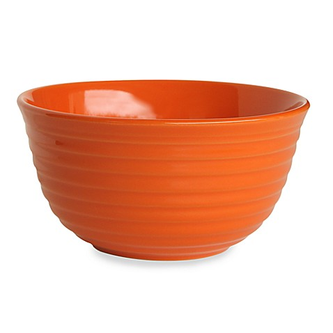 Q Lifestyles Ridge 6-Inch Cereal Bowl in Orange (Set of 6)