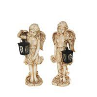 Northlight Angel with Tealight Lantern Statue