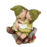 Northlight Boy and Girl on Stone Figure