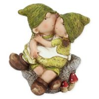 Northlight Boy and Girl on a Stone Figure in Green