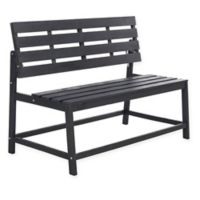 Safavieh Ruben Balcony Bench and Table in Slate Grey