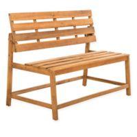 Safavieh Ruben Balcony Bench and Table in Teak