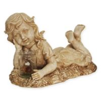 Northlight 14-Inch Lounging Girl LED Lighted Statue in Brown