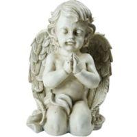 Northlight 13.5-Inch Kneeling Cherub Angel Statue in Grey