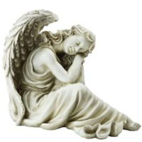 Northlight Resting Angel Garden Statue in Grey