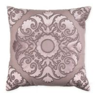 Wamsutta® Vintage Textured Jacquard Damask Square Throw Pillow in Eggplant