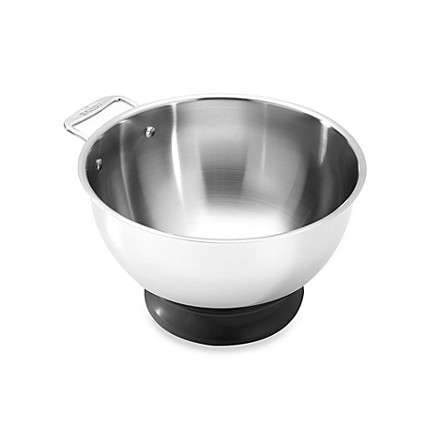 All-Clad 5-Quart Stainless Steel Mixing Bowl with Silicone Base