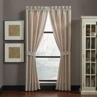 Croscill® Nerissa 84-Inch Rod Pocket Window Curtain Panel Pair in Neutral
