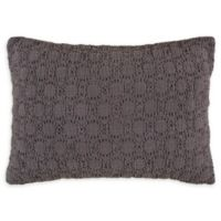 Bridge Street Reese Velvet Oblong Throw Pillow in Mink