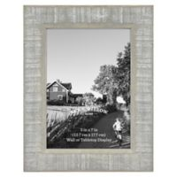 5-Inch x 7-Inch Rustic Wooden Picture Frame in Austin Grey