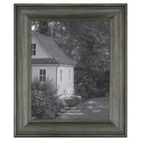 8-Inch x 10-Inch Rustic Wooden Picture Frame in Oxford Black