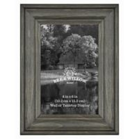 4-Inch x 6-Inch Rustic Wooden Picture Frame in Oxford Black
