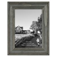5-Inch x 7-Inch Rustic Wooden Picture Frame in Oxford Black