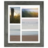Rustic Impressions 5-Picture Matted Wooden Collage Frame in Black