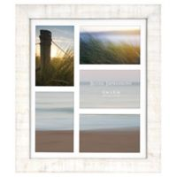 Rustic Impressions 5-Picture Matted Wooden Collage Frame in White