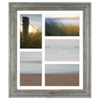 Rustic Impressions 5-Picture Matted Wooden Collage Frame in Aged Silver