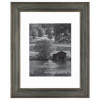 Rustic Impressions 8-Inch x 10-Inch Matted Wooden Picture Frame in Oxford Black