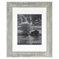 Rustic Impressions 8-Inch x 10-Inch Matted Wooden Picture Frame in Austin Grey
