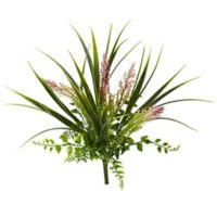 Nearly Natural 11-Inch Artificial Grass and Fern Plants (Set of 12)