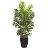 Nearly Natural 5.5-Foot Artificial Paradise Palm Tree with Black Square Planter